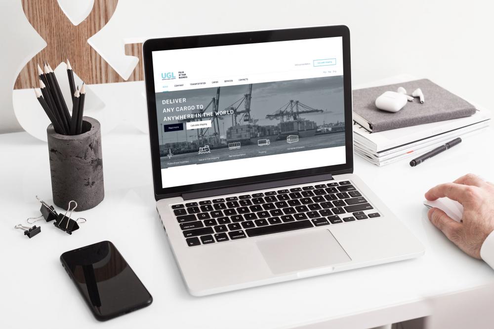 Новое в портфолио - разработка сайта и сетов полиграфической подарочной продукции для логистической компании